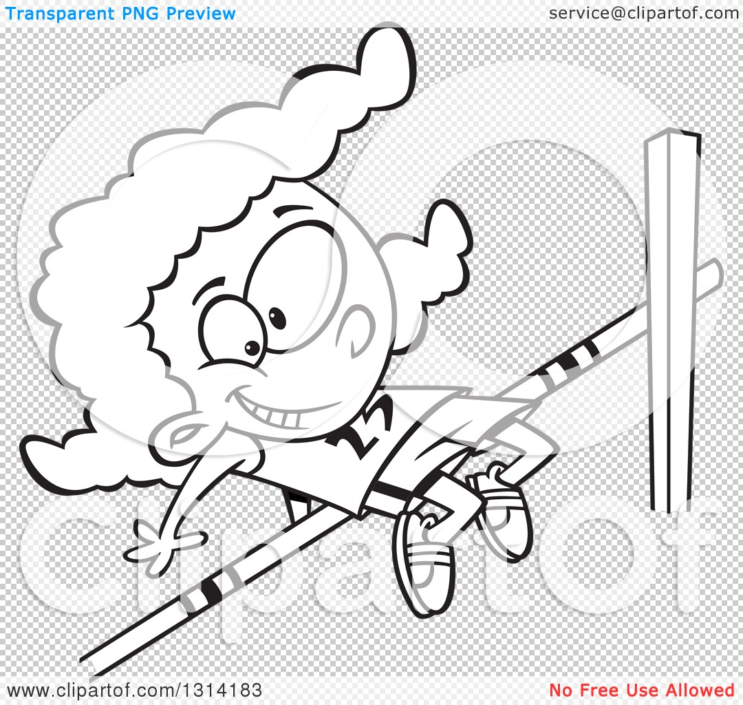 PNG file has a PlusPng.com  - High Jump PNG Black And White
