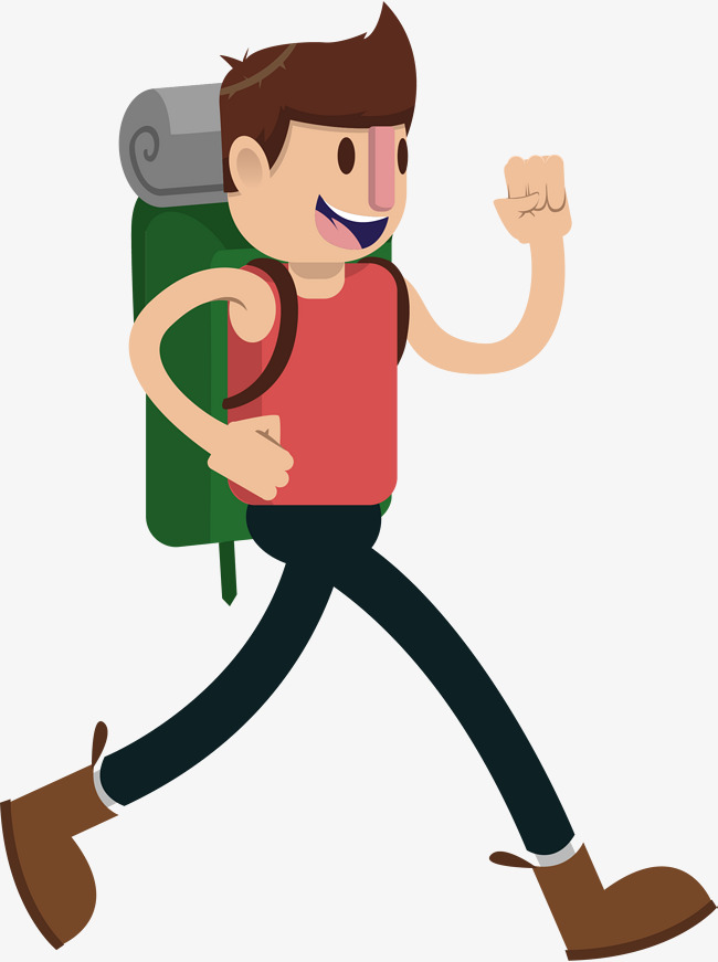 An explorer on a hiking hike, On Vacation, Vacation, Tourism Free PNG and  Vector - Hiking PNG