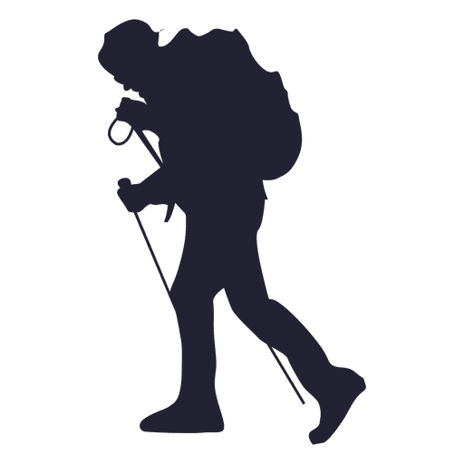 Hiking adventure silhouette Transparent PNG - Hiking PNG