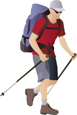 Hiking-Man.png PlusPng.com  - Hiking PNG