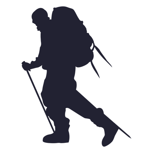 Hiking mountain silhouette Transparent PNG - Hiking PNG