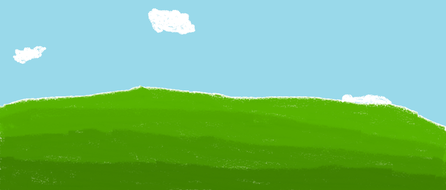 Digital background: grassy hill- daytime by Zorua101 PlusPng.com  - Hill Background PNG