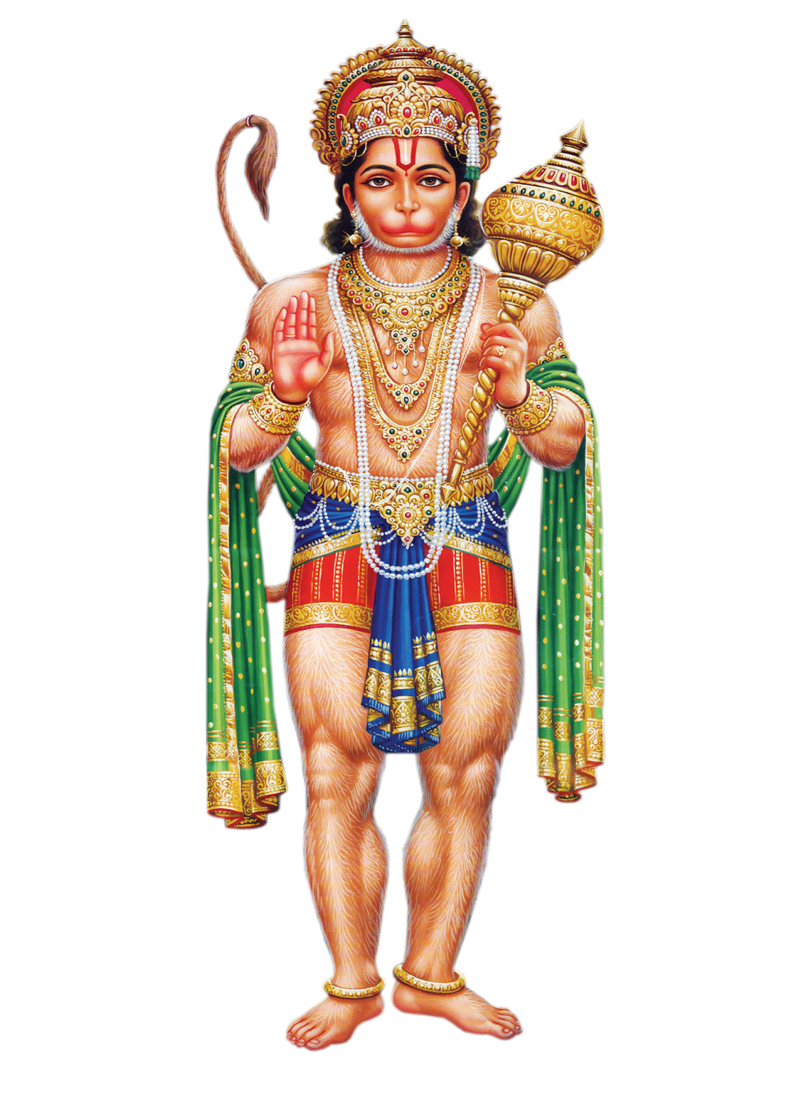 Hanuman Transparent PNG - God HD PNG - Hindu God PNG HD