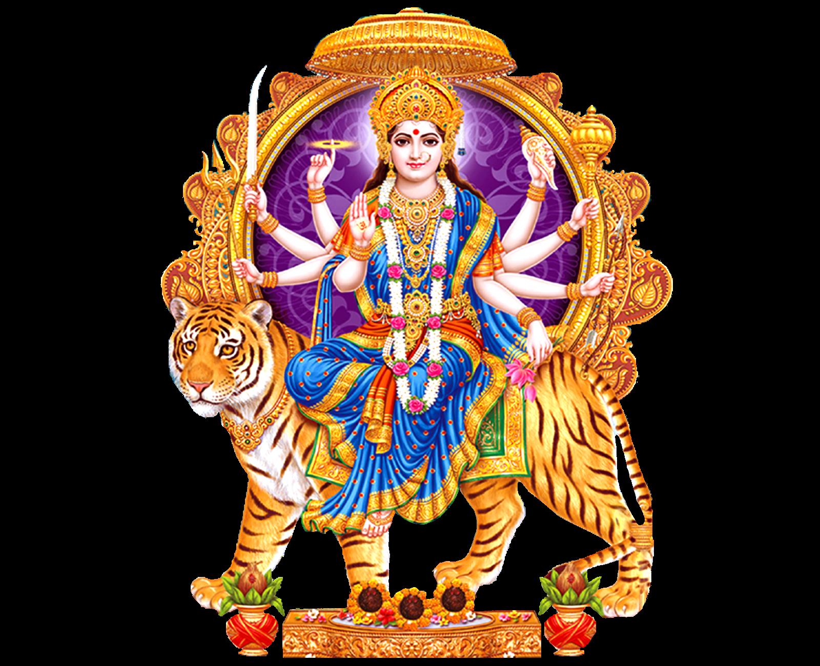Here Is The Latest Goddess Durga Matha Png Images For Designs Indian Goddess  Durga Png Vector - Hindu God PNG HD