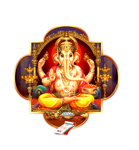 Hindu God Ganesh png transparent image nine. Resolution: 465 x 503. Size :  267 KB Format: PNG - Hindu God PNG HD