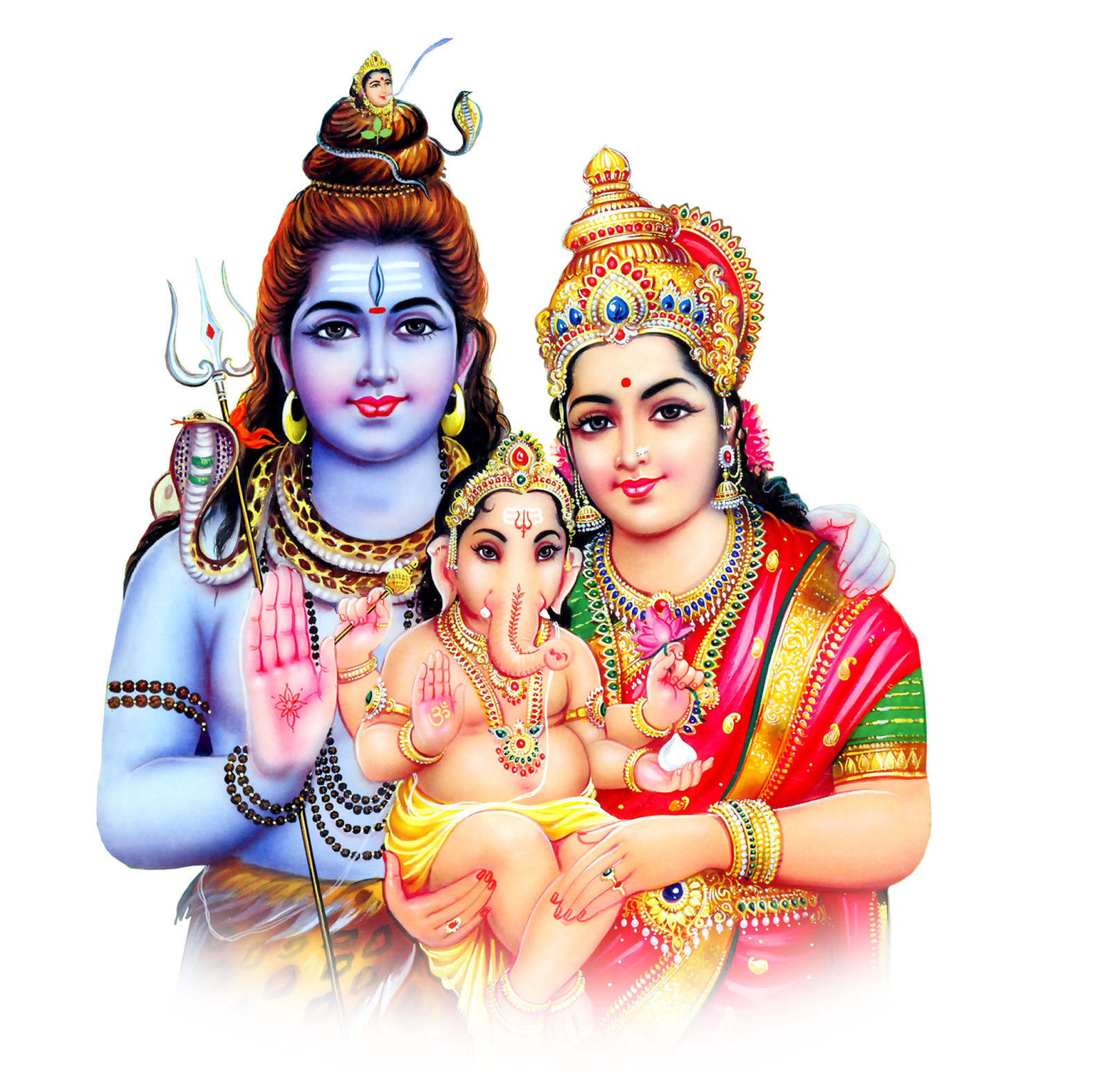 Lord-shiva-parvathi-with-ganesh-png-images-hd- - Hindu God PNG HD