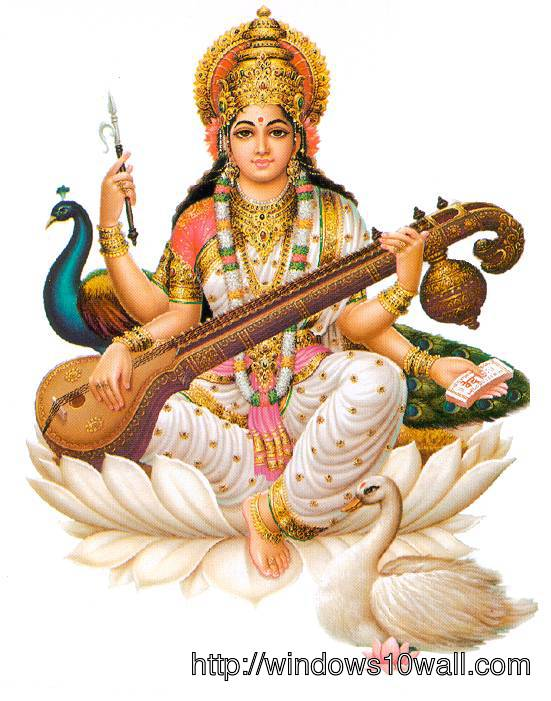 Maa Saraswati Hindu God Picture - Saraswati HD PNG - Hindu God PNG HD