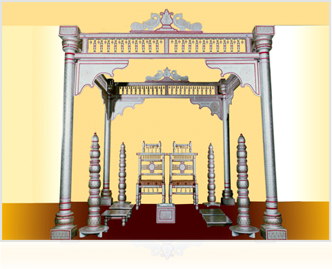 hindu wedding decorations, in
