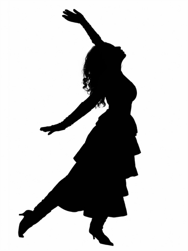 Hip Hop Dance PNG Black And White - 47316