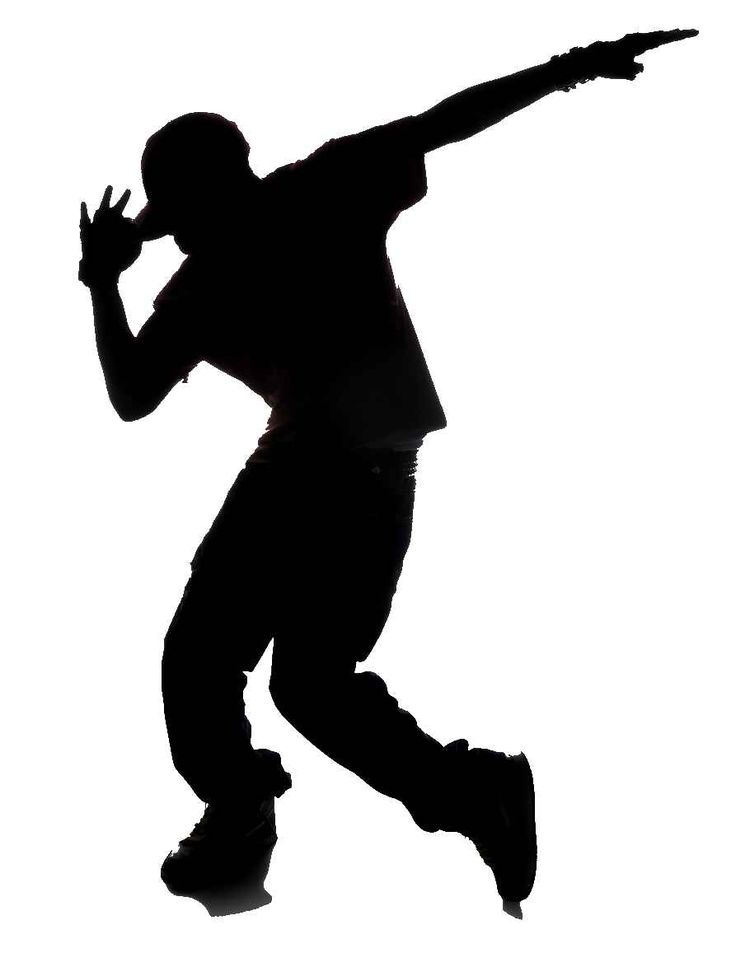 Hip Hop Dance PNG Black And White - 47315