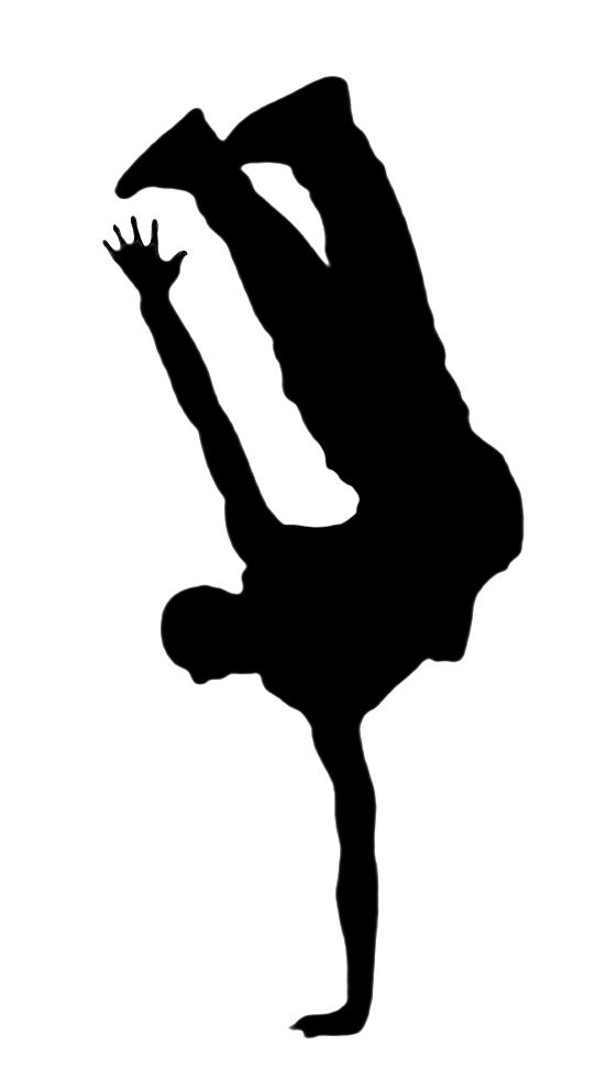 Hip Hop Dance PNG Black And White - 47311