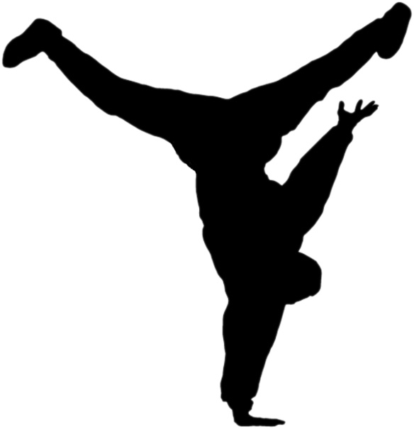 Hip Hop Dance PNG Black And White - 47314