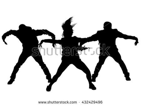 Hip Hop Dance PNG Black And White - 47301