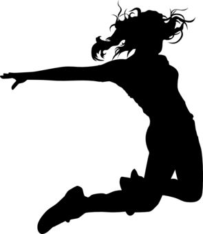 Hip Hop Dance PNG Black And White - 47310