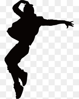 Hip Hop Dance PNG Black And White - 47305