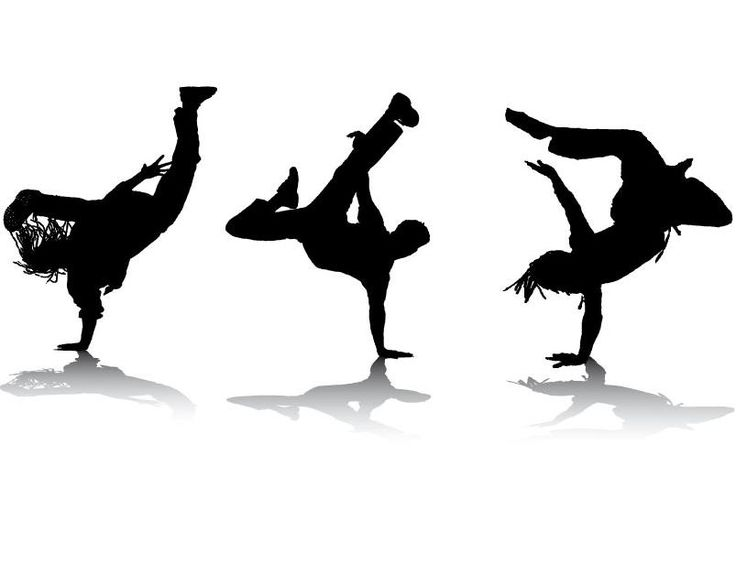 Hip Hop Dance PNG Black And White - 47304