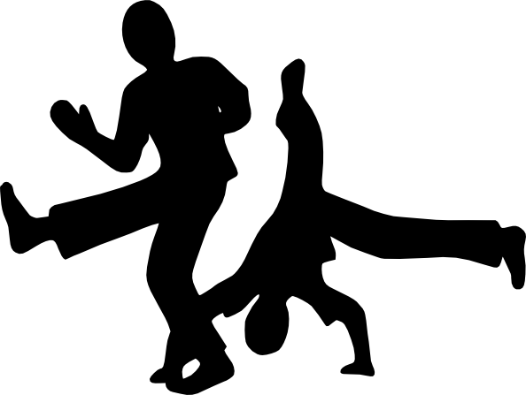 Hip Hop Dance PNG Black And White - 47312