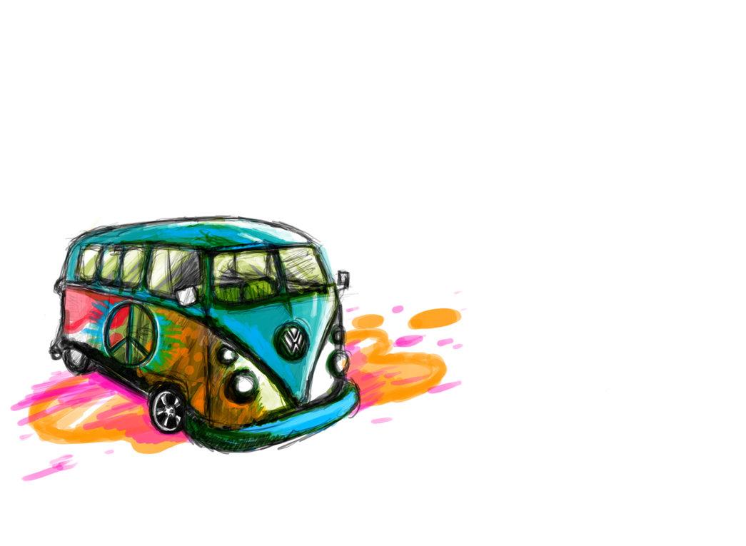 Hippie Van by ZbassartZ PlusPng.com  - Hippie PNG HD