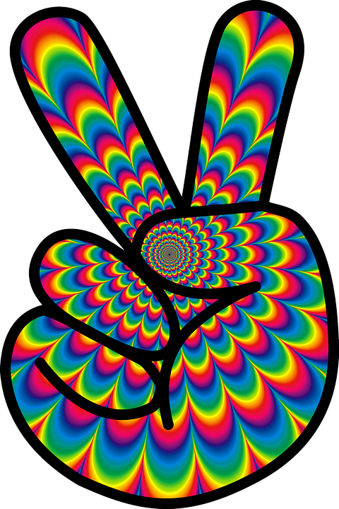 Psychedelic Peace Hippie 60S Meditation Re - Hippie PNG HD