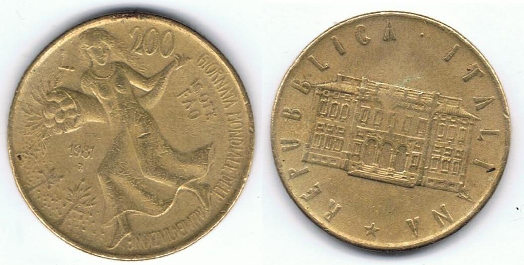 File:200 Lire Italiane - Giornata Mondiale dellu0027Alimentazione 03.png - History Of Dell PNG