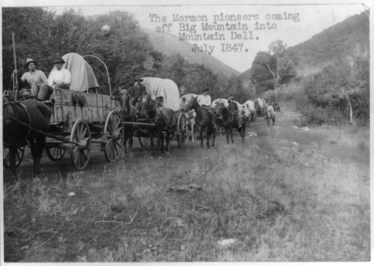 File:The Mormon pioneers coming off Big Mountain into Mountain dell.png - History Of Dell PNG