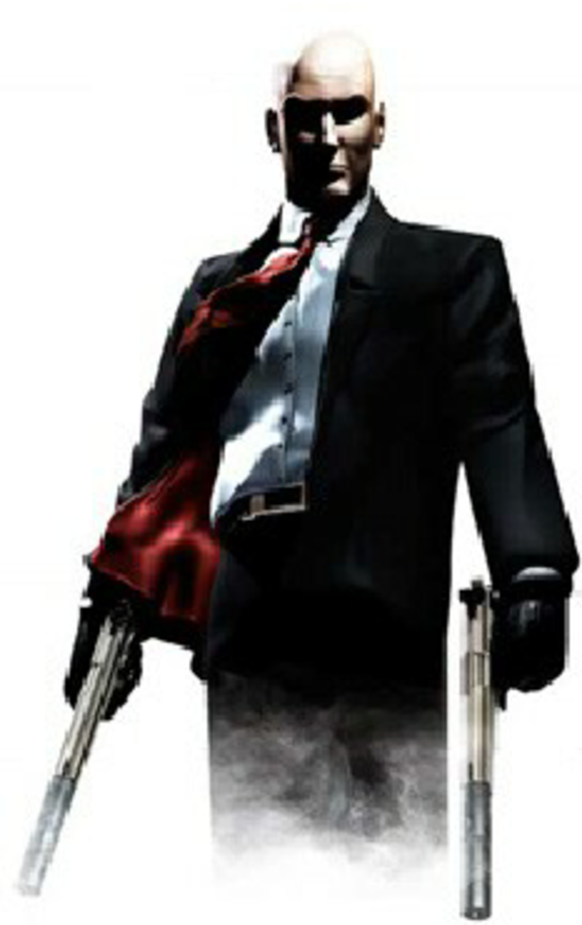 The clothes of the central character of Hitman 2: Silent Assassin are  mainly black, - Hitman PNG