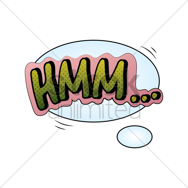 Comic Effect Hmm Vector Graphic - Hmm PNG