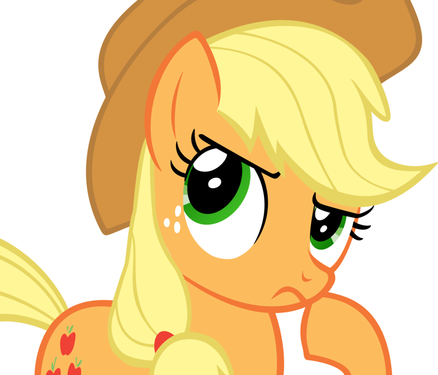 Image - FANMADE Applejack Hmm Nah By Flamp1.png | My Little Pony Friendship  Is Magic Wiki | FANDOM Powered By Wikia - Hmm PNG