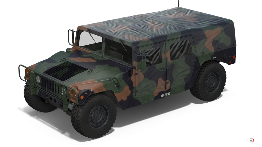 8 Troop Carrier HMMWV Camo Royalty-free 3d Model - Preview No. - Hmmwv PNG