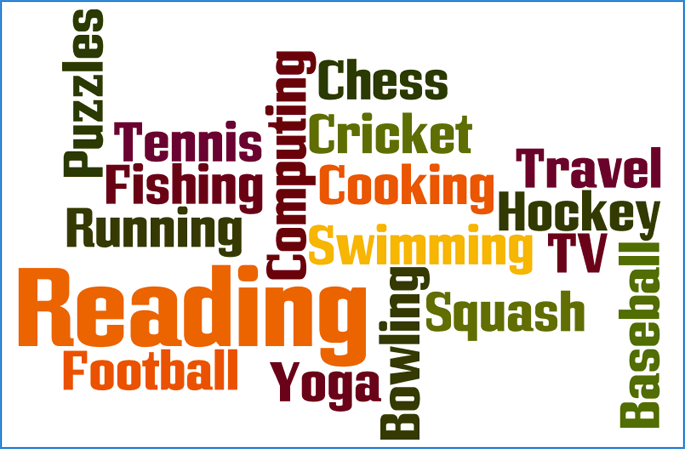 Example of many different types of hobbies on a CV - Hobbies And Interests PNG