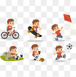 Cute cartoon vector material designed for children, Boy, Girl, Hobby PNG  and Vector - Hobbies PNG HD