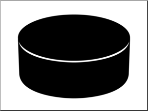 Clip Art: Ice Hockey Puck Bu0026W 1 I abcteach pluspng.com - preview 1 - Hockey Puck PNG Black And White