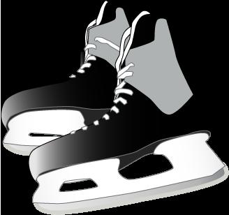 Clip Art Hockey Skate Clipart - Hockey Skates PNG