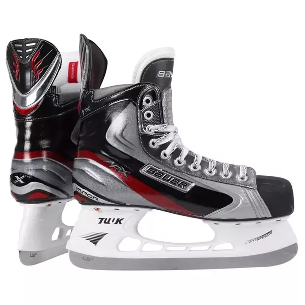 While a figure skate boot is made of cloth with not much reinforcement. The  figure skates do not have to protect from impacts, so removing all this  extra PlusPng.com  - Hockey Skates PNG