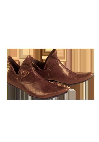 Mittelalterlicher Spitzschuh Hofdame, braun | Schuhe u0026 Stiefel |  Dein-LARP-Shop - Mittelalter, LARP und Fantasy Shop - Hofdame Mittelalter PNG