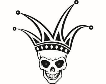 #5 Schädel Kopf Joker Hofnar