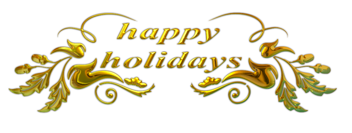 File:Happy Holidays text.png - Holidays PNG