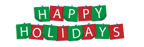 Happy Holidays Banner Png