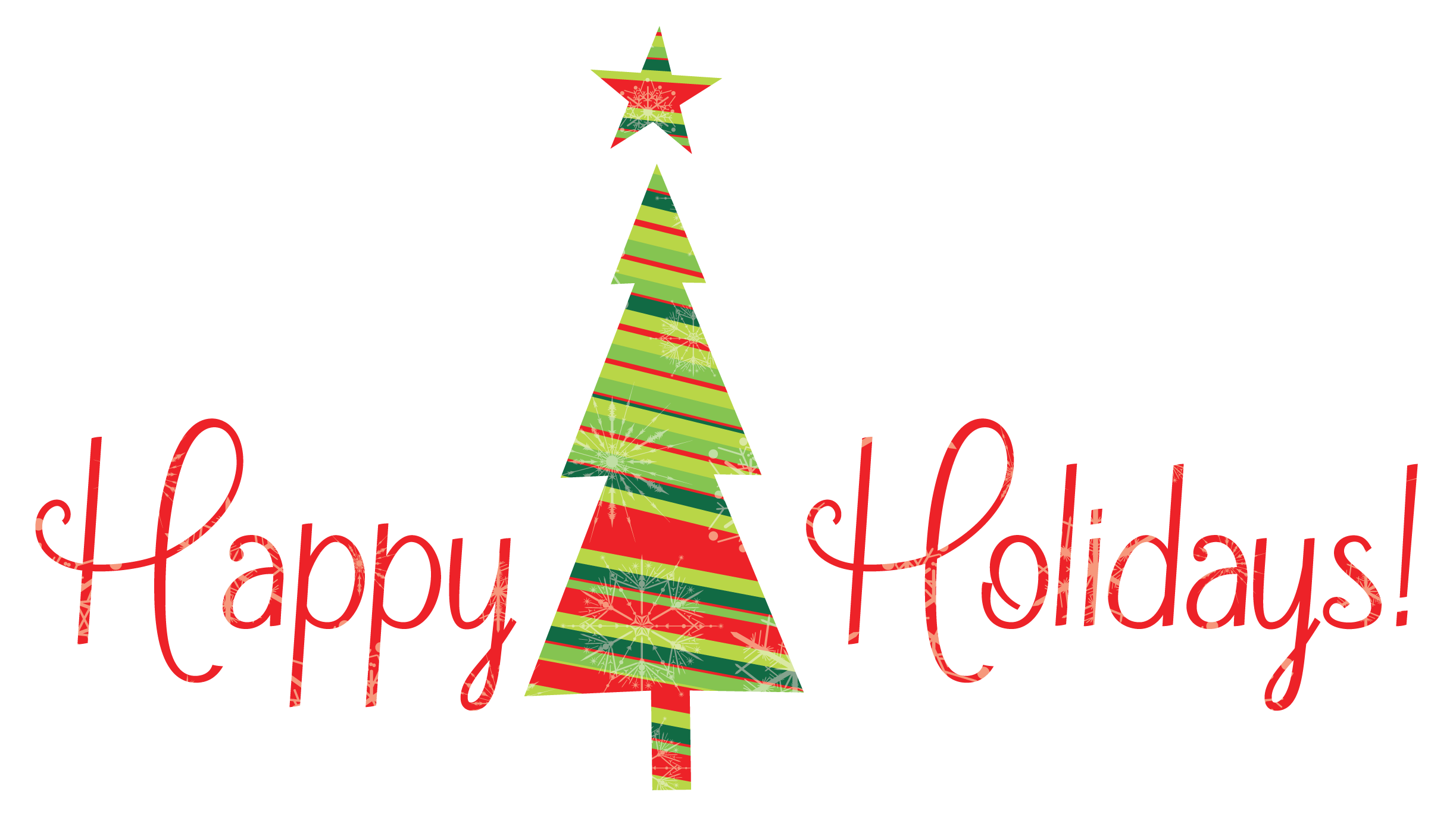 Happy Holidays With Tree Png image #34700 - Holidays PNG