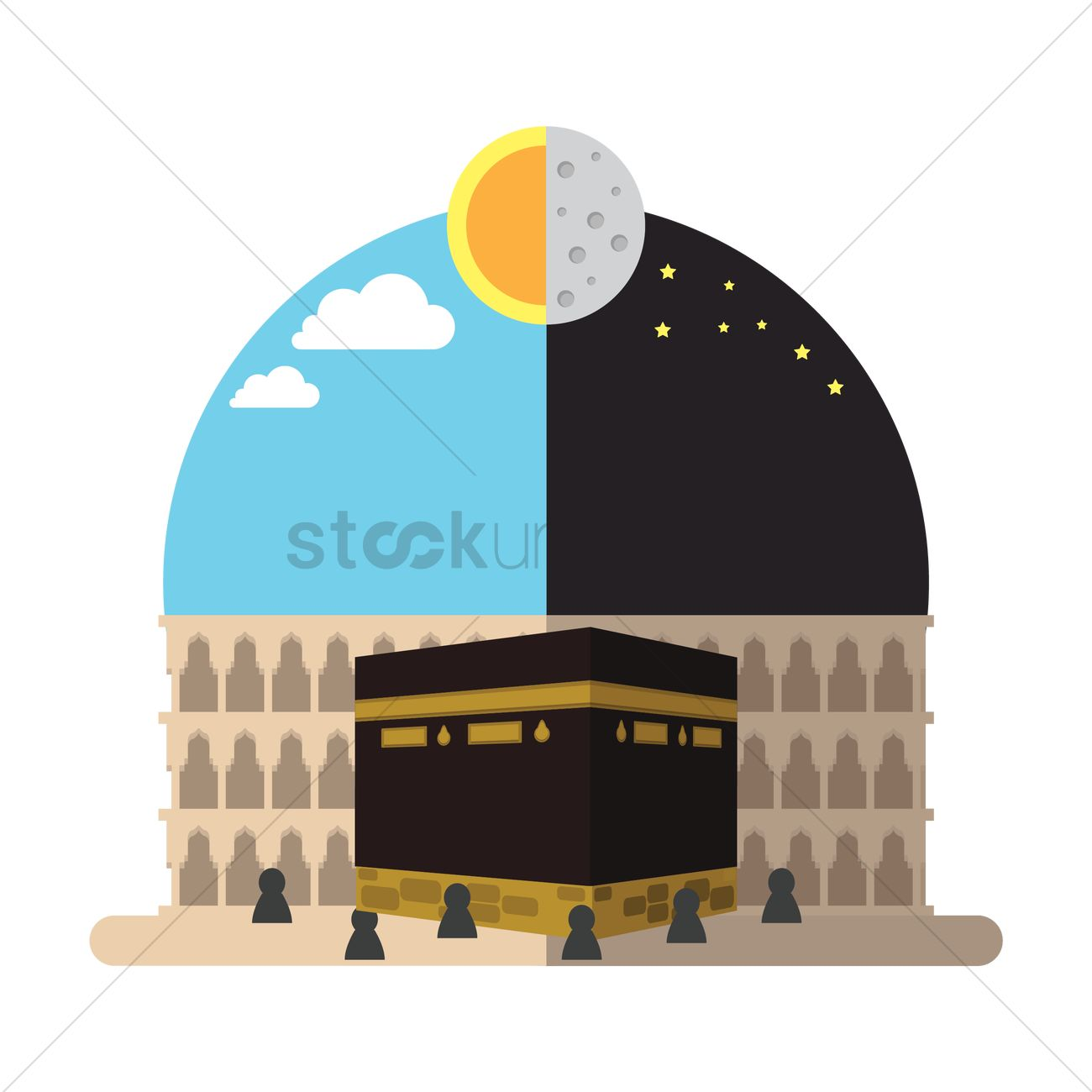 holy kaaba in mecca vector graphic - Holy Kaaba PNG