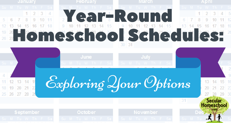 year-round-homeschool-schedules-png - Homeschool PNG HD