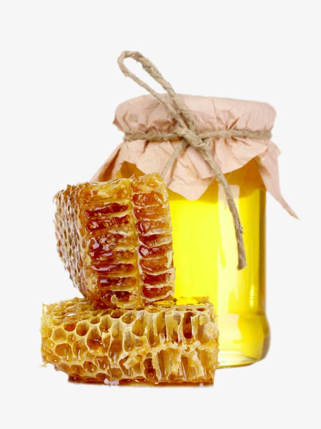 HD bottle of honey, Honeycomb