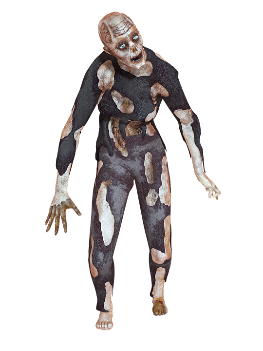 Zombie, Man, Horror, Scary, Danger 3D, Undead, Png - Horror PNG