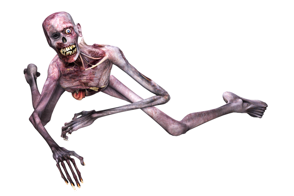 Zombie, Man, Horror, Scary, Frightening, Death, Lying - Horror PNG