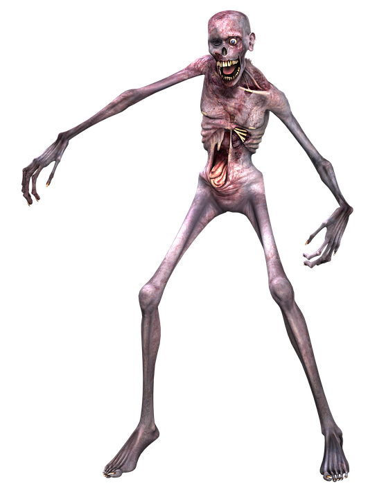 Zombie, Man, Horror, Scary, Frightening, Death, Pose - Horror PNG