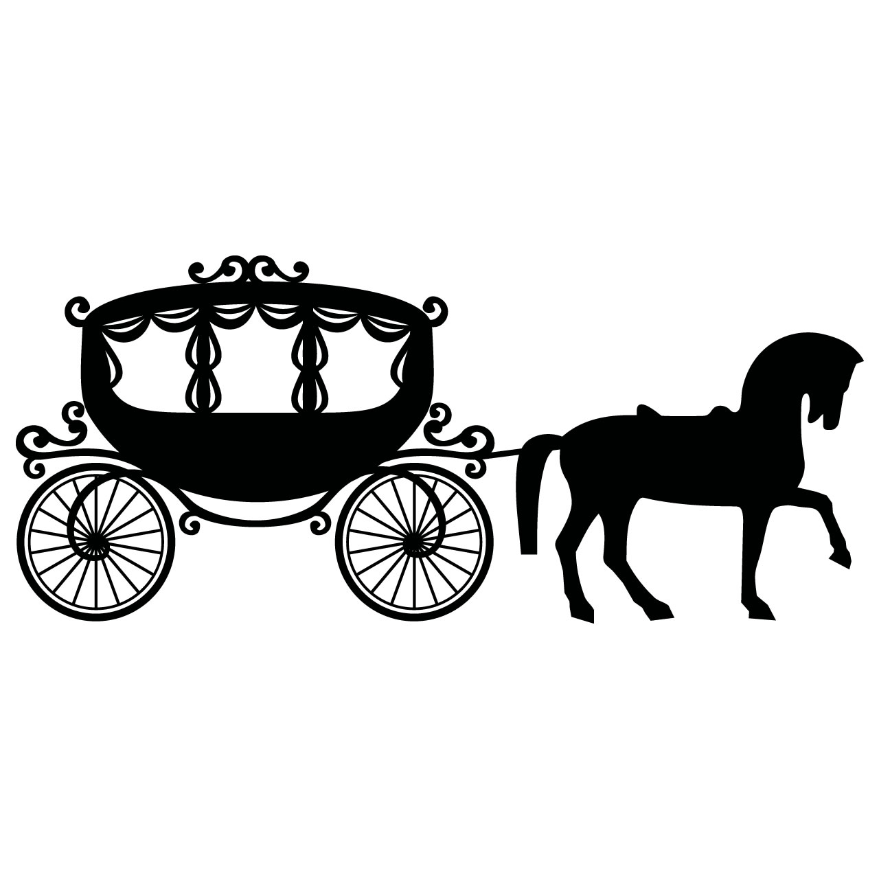Horse drawn carriage clipart. - Horse And Buggy PNG