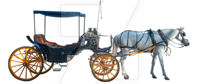 Horse and Carriage PNG by EveLivesey PlusPng.com  - Horse Carriage PNG HD
