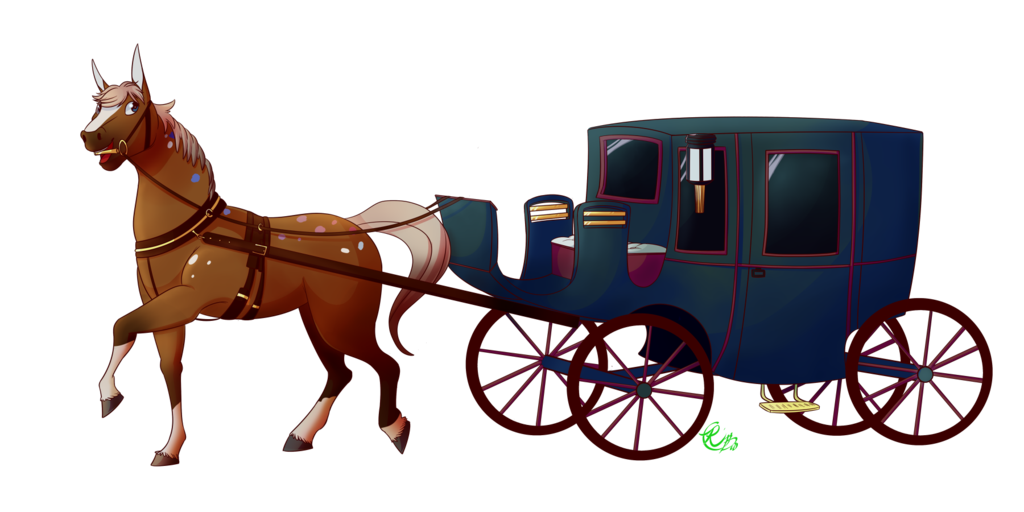 Horse carriage - [comm] by Riboo PlusPng.com  - Horse Carriage PNG HD