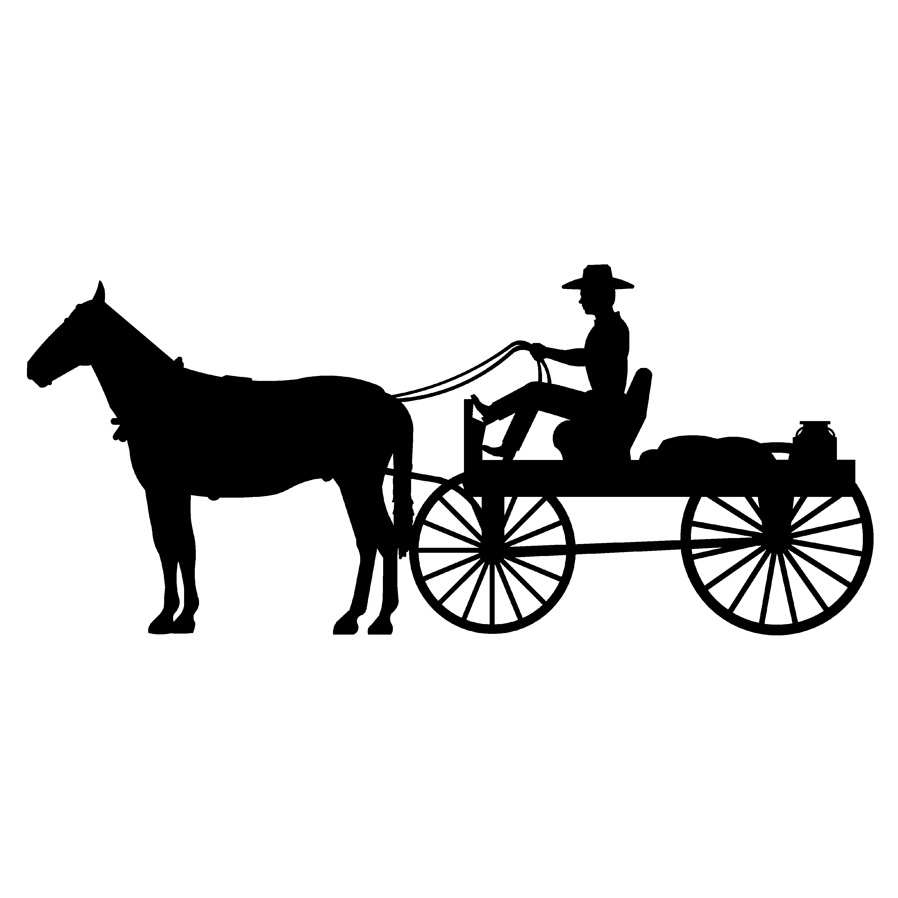 Horse-drawn Carriage clipart silhouette #1 - Horse Carriage PNG HD