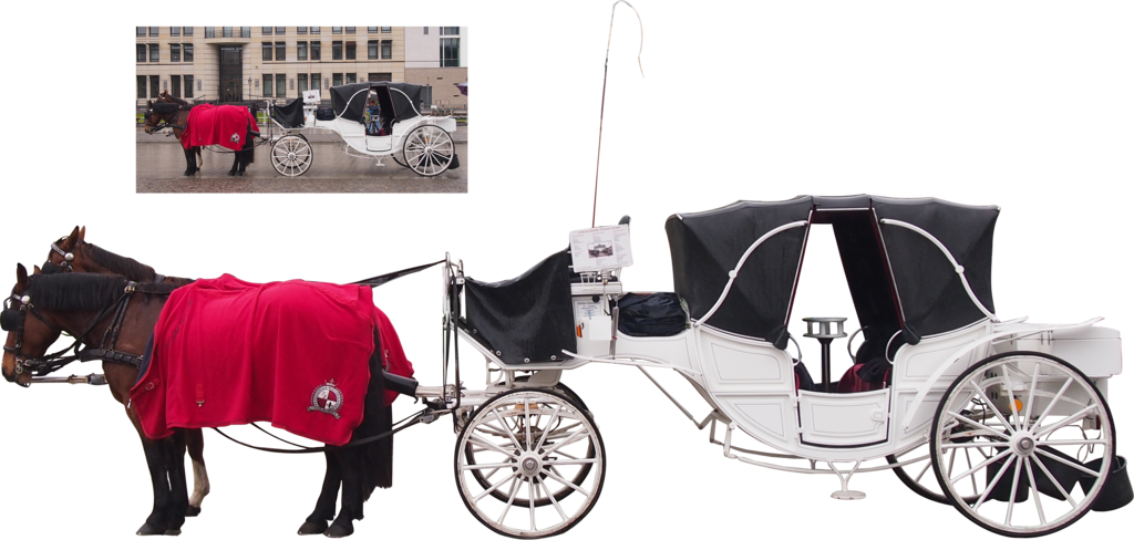 white horse carriage png by Nexu4 PlusPng.com  - Horse Carriage PNG HD